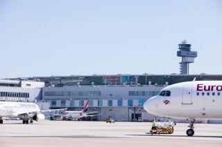 Eurowings am Flughafen Düsseldorf