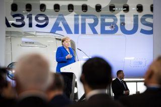 Bundeskanzlerin Angela Merkel in Leipzig