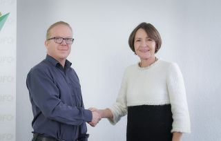 Nicoley Baublies (Ufo) und Bettina Volkens (Lufthansa)