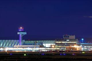 DFS-Tower in Frankfurt bei Nacht