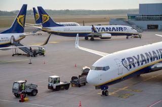 Ryanair am Flughafen Weeze