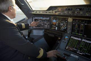 Touchscreen im Airbus A350XWB