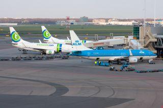 KLM und Transavia in Amsterdam