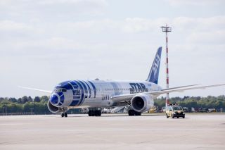 All Nippon Airways Boeing 787-9 in Düsseldorf