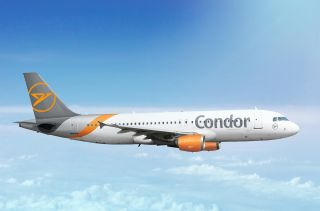 Condor Airbus A320 ohne Thomas Cook-Herz