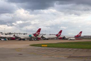 Virgin Atlantic Airbus in LHR
