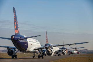 Geparkte Brussels-Airlines-Flotte