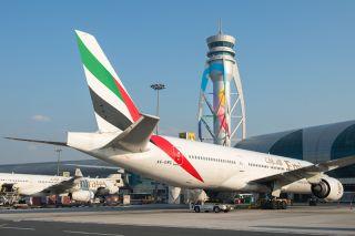 Emirates Boeing 777-300ER in Dubai