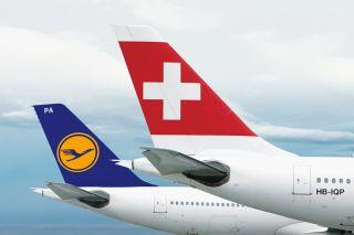 Swiss und Lufthansa Tails