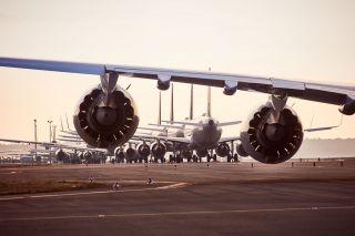 Geparkte Lufthansa-Flugzeuge