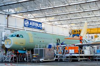 A320 Lion Group in der FAL in Toulouse