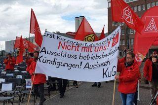 Proteste bei Airbus
