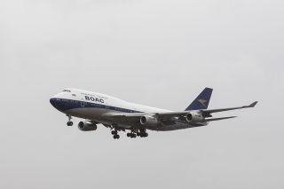 British Airways Boeing 747 im BOAC-Retro-Design