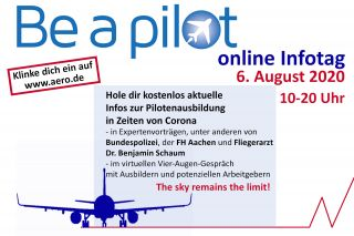 Be a Pilot online Infotag 2020