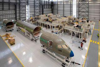 Airbus A220-Fertigungslinie in Mobile
