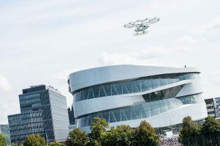 Volocopter fliegt über Stuttgart