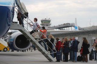 Borarding am Flughafen Linz