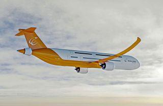 Entwurf eines Wasserstoff-betriebenen Flugzeuges von Bauhaus Luftfahrt