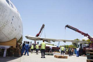 Lufthansa Technik demontierte die Landshut für den Transport