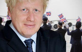 Boris Johnson hält die Luftfahrt in Atem