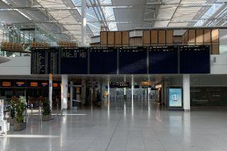 Kaum Flüge am Flughafen München
