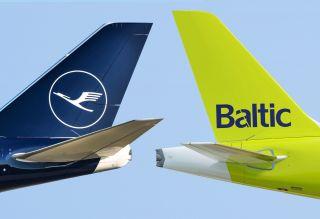 AirBaltic und Lufthansa