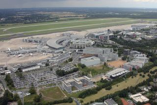 Luftaufnahme Flughafen Düsseldorf