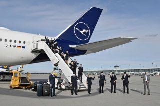 Lufthansa Falkland-Crew
