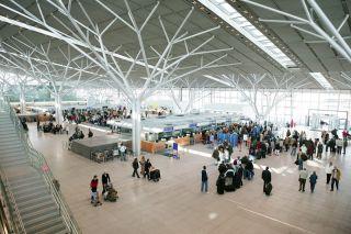 Terminal 3 am Flughafen Stuttgart