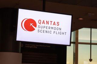 Qantas fliegt zum Supermond