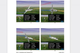Rolle mit Learjet 31A