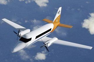 Von DLR und Bauhaus Luftfahrt stammt diese Konfiguration eines hybrid-elektrischen 19-Sitzers