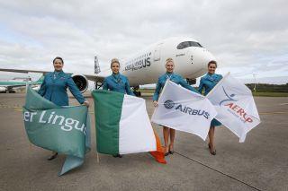 Airbus A350-900 in Dublin