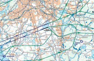 Flugrouten des BER in Richtung Osten