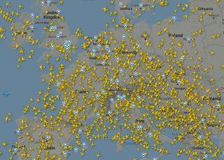 Screenshot Flightradar24 vom 1. September 2021