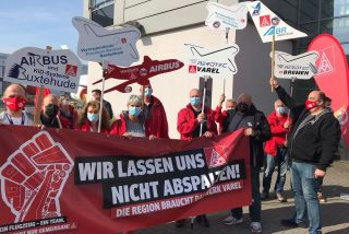 IG Metall: Proteste bei Airbus