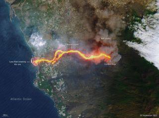 Lavafluss am 30. September 2021 auf La Palma