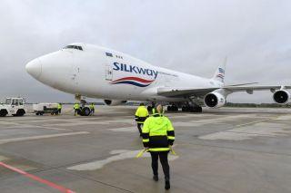 Silkway Boeing 747 in Rostock-Laage