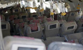 Kabine der verunglückten Boeing 777-200