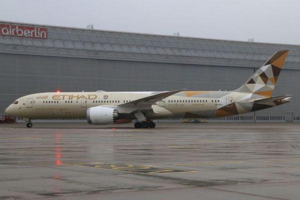 Etihad Boeing 787-9 am DUS