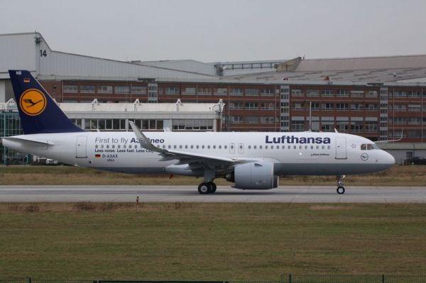 Zweiter Lufthansa Airbus A320neo D-AINB