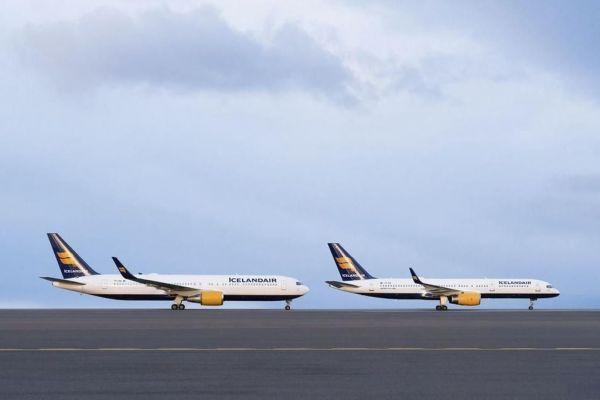 Icelandair Boeing 767 und 757