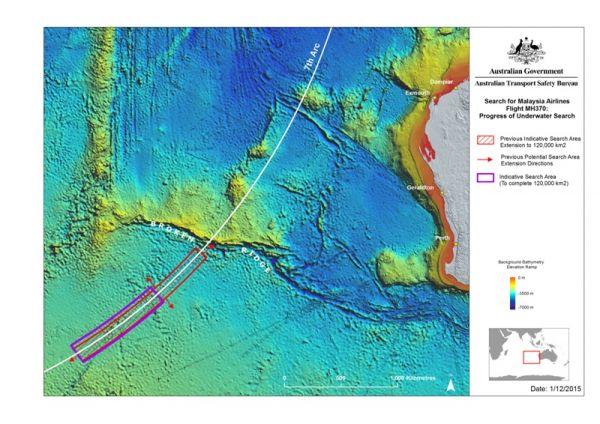Sucgebiet MH370 Juni 2016