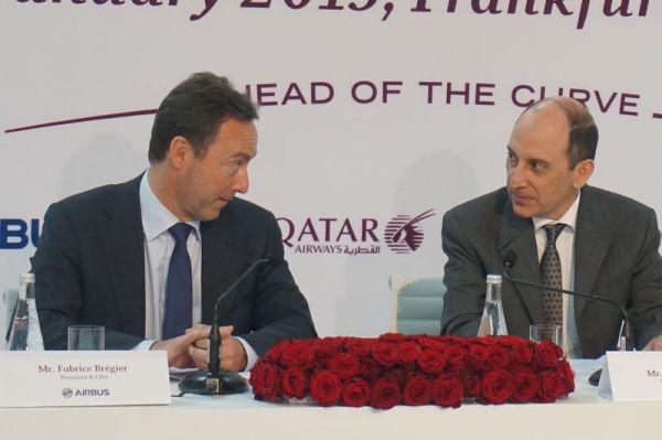 Fabrice Brégier und Akbar Al-Baker