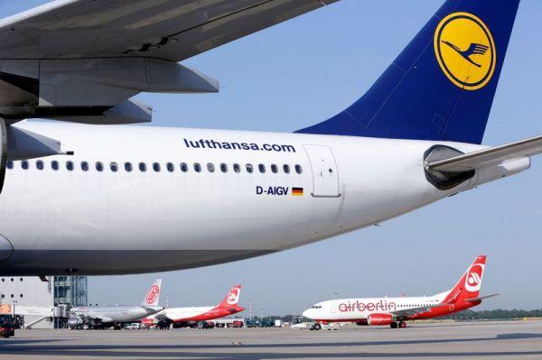 Lufthansa und Air Berlin in DUS