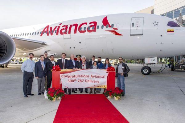 Die 500. Boeing 787 fliegt bei Avianca