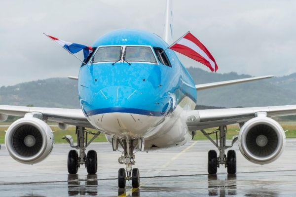KLM-Erstflug nach Graz