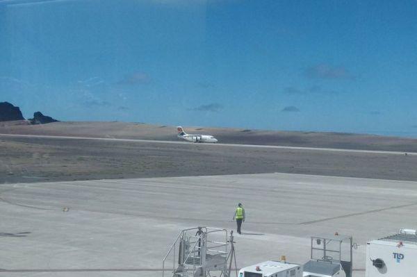 Kommt bald öfter: SA Airlink in St. Helena