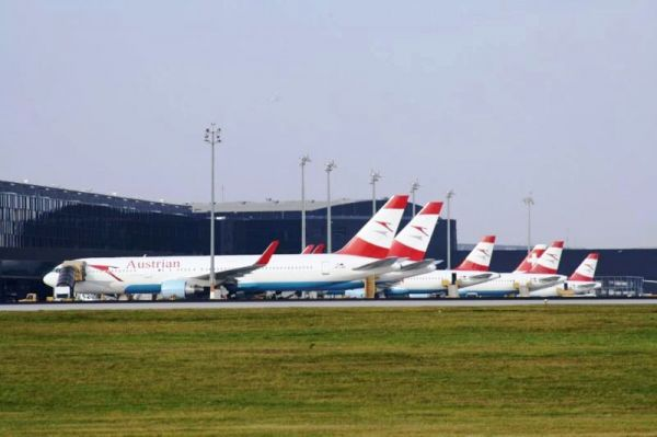 AUA Flotte am Star Alliance Terminal VIE