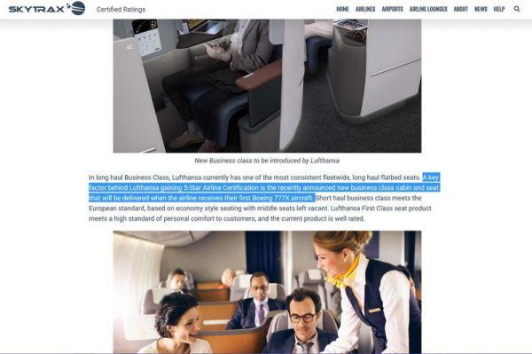 Vorschusslorbeeren für nächste Lufthansa Business Class